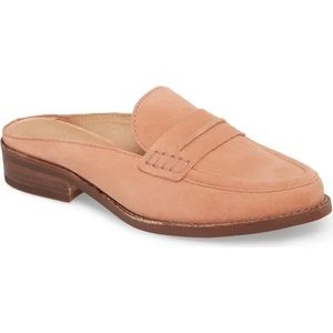 Madewell The Elinor Loafer Mule Pink Size 7.5